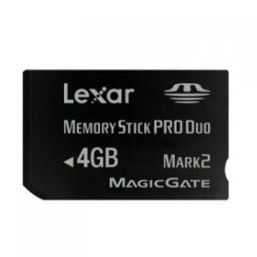 Lexar 4GB Platinum II Memory Stick PRO Duo Card