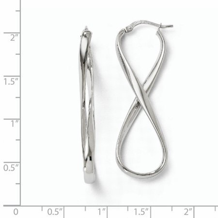 Leslie's 14k White Gold Polished Infinity Hoop Earrings LE561 - image 1 de 2
