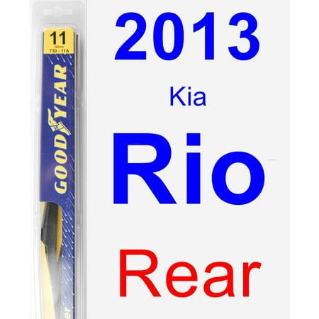 2013 Kia Rio Rear Wiper Blade - -