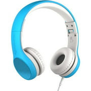 LilGadgets Connect+ Style Blue Premium Children's Wired Headphones with SharePort