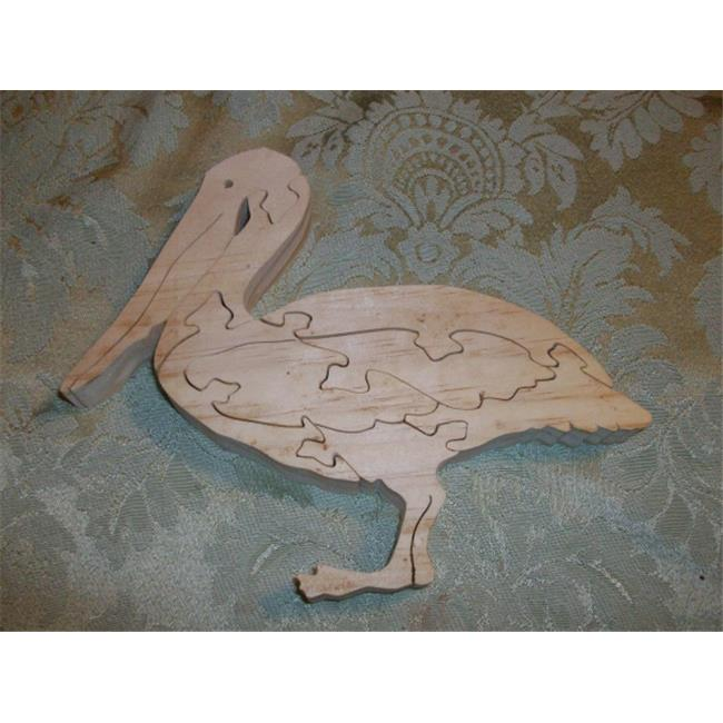 Fine Crafts 1366PUZ Wooden Pelican jigsaw puzzle