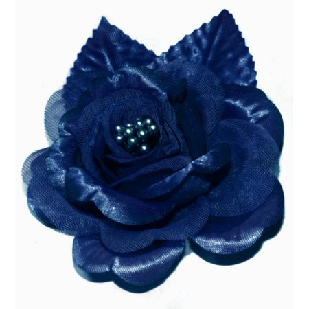 12 Silk Roses Wedding Favor Flower Corsage  - Navy Blue (Daddy To Be Corsage)
