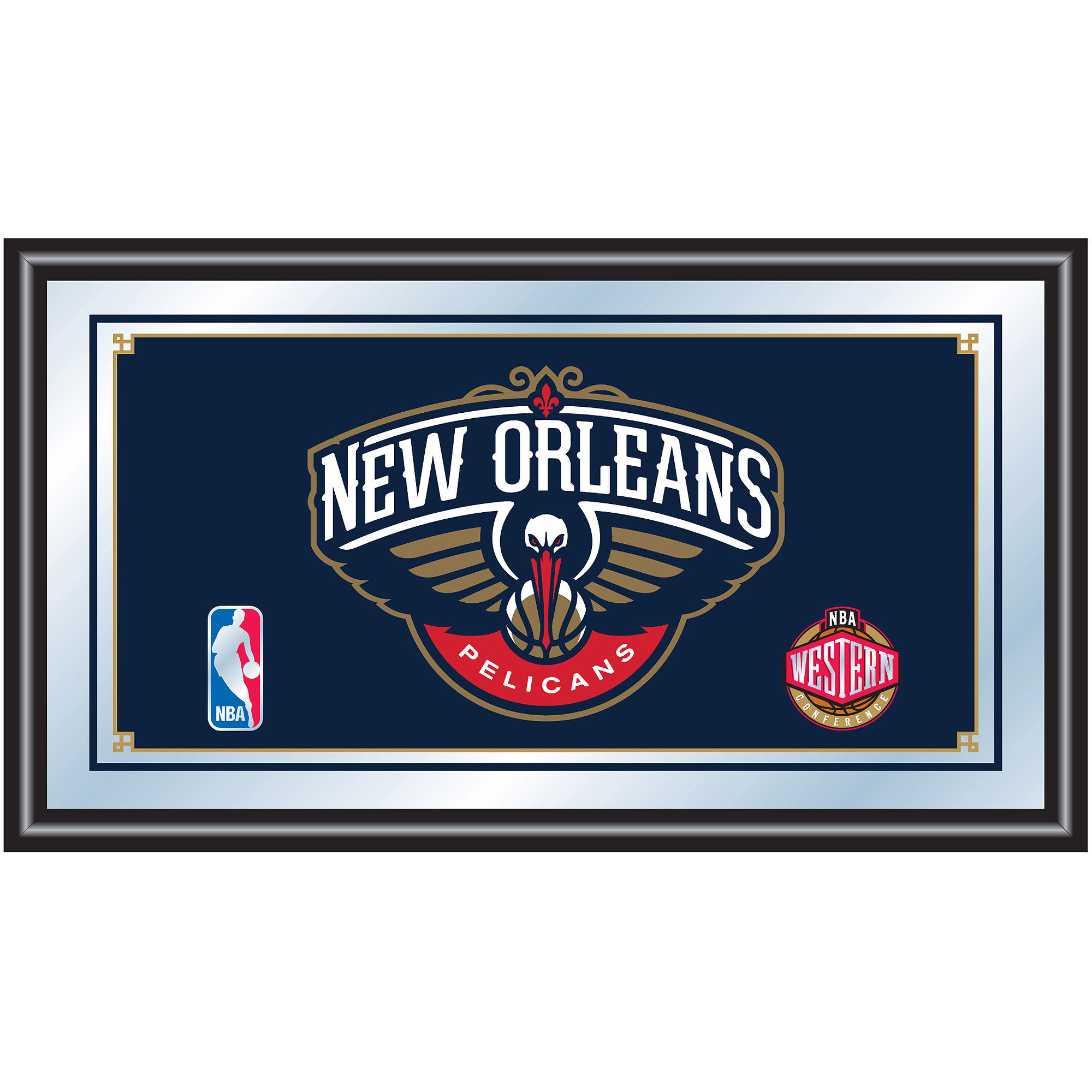 NBA New Orleans Framed Logo Mirror