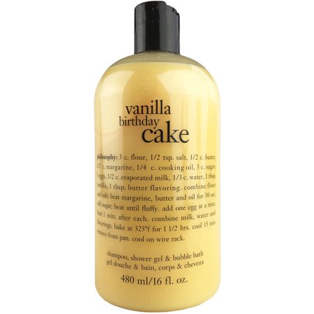 Philosophy Vanilla Birthday Cake Shampoo, Bath & Shower Gel, 16 Oz