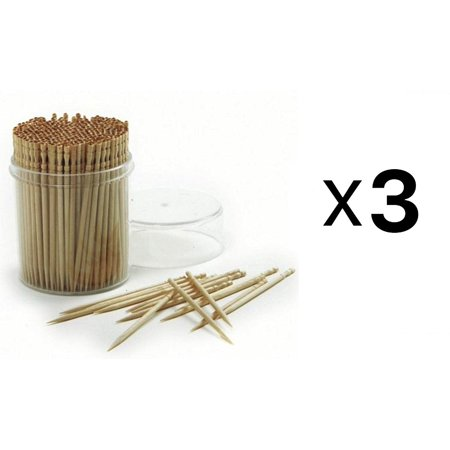 Ornate Wood Toothpicks, Great for use with hors d'oeuvres, sandwiches, appetizers and finger foods By Norpro