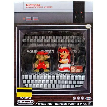 World of Nintendo 8-Bit Mario & Princess Peach Mini Figure 2-Pack - Classic Princess Peach