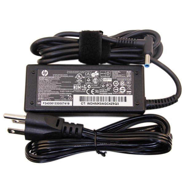 Original HP 19.5V 3.34A 65W HP AC Adapter HP Laptop Charger HP Power Cord for HP 14, 15; HP ENVY 14,15,17 TouchSmart; Pavilion 11, 14, 15, 17, TouchSmart Series