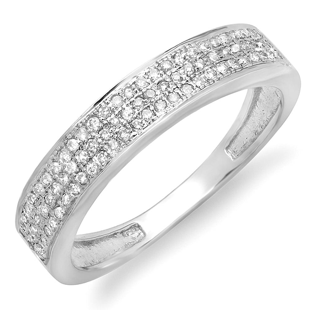 Dazzling Rock 0.25 Carat (ctw) 10K White Gold Round White...