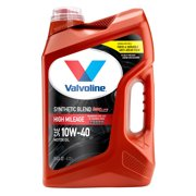 Valvoline High Mileage with MaxLife Technology SAE 10W-40 Synthetic Blend Motor Oil, Easy-Pour 5 Quart