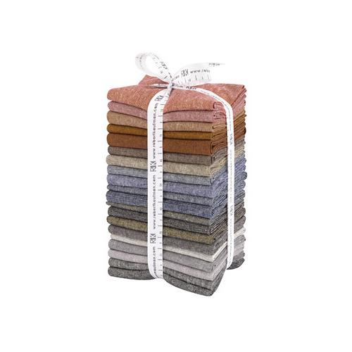 Robert Kaufman Essex Yarn Dyed Dark Fat Quarter Bundle 20 FQs Precut Quilting Fabric FQ-1319-20