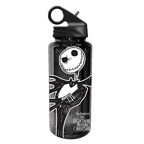 Silver Buffalo NB1664 Disney Nightmare Before Christmas Jack Skellington Tritan Water Bottle, 20-Ounces
