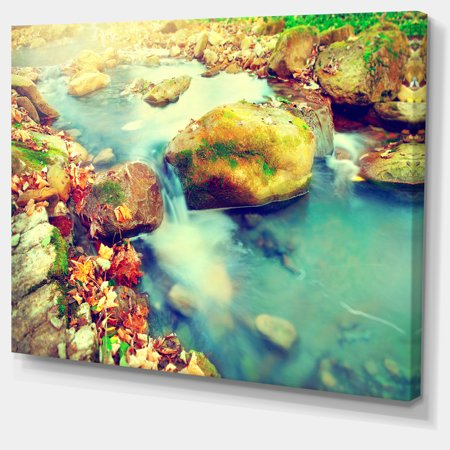 Mountain River with Stones - Large Seashore Canvas Wall Art - image 3 of 4