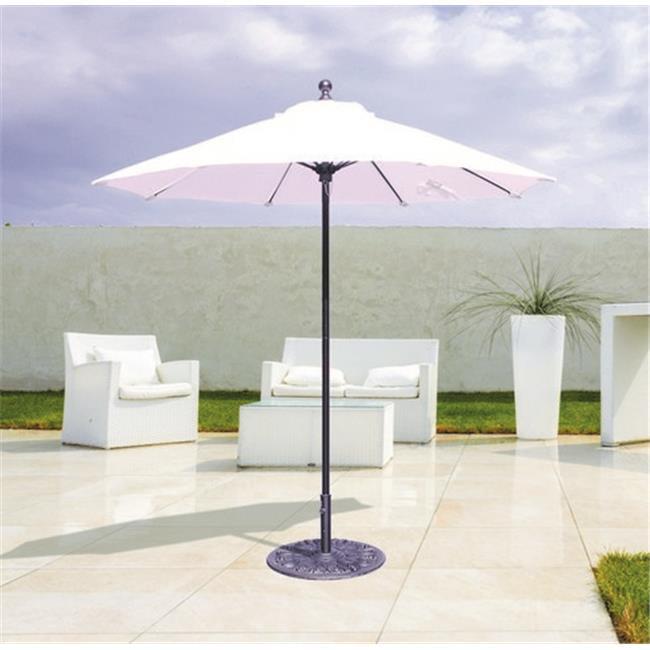 Galtech 7.5 ft. Antique Bronze Commercial Use Umbrella - Mandarin Orange Suncrylic