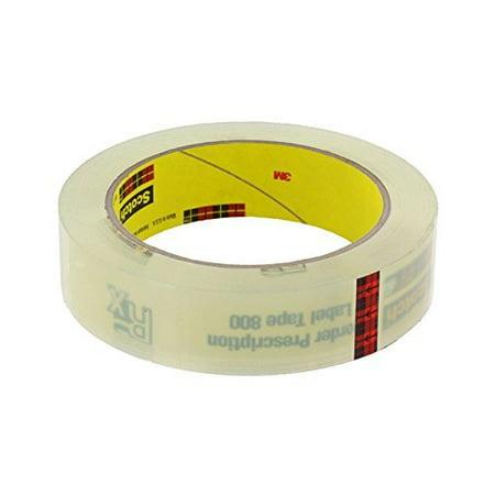 Scotch(R) Prescription Label Tape 800 Clear, 1 in x 72 yd [PRICE is per ROLL] - image 1 of 1
