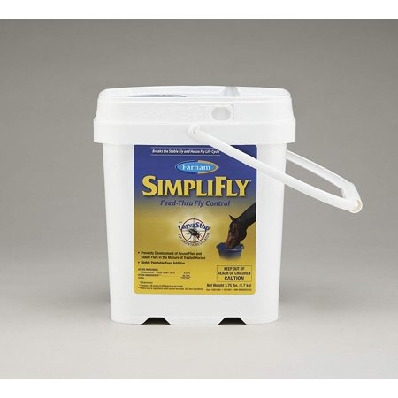 SimpliFly Feed-Thru Fly Control, 3.75lbs, Larva stop, containing fly growth regulator Dimilin, breaks the fly life cycle By (Best Way To Stop Flies)