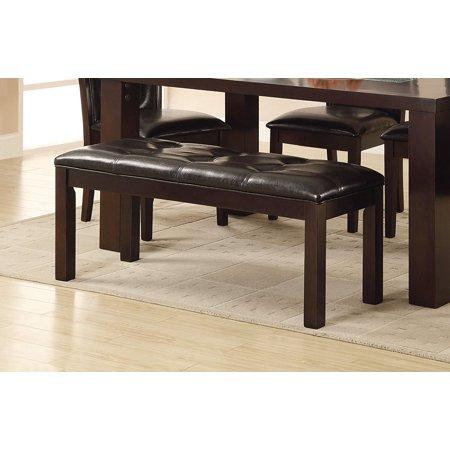 Homelegance 2528-13 Dining Bench, 49-Inch, Western, Dark Brown, Espresso Finish (Western Rustic Furniture)