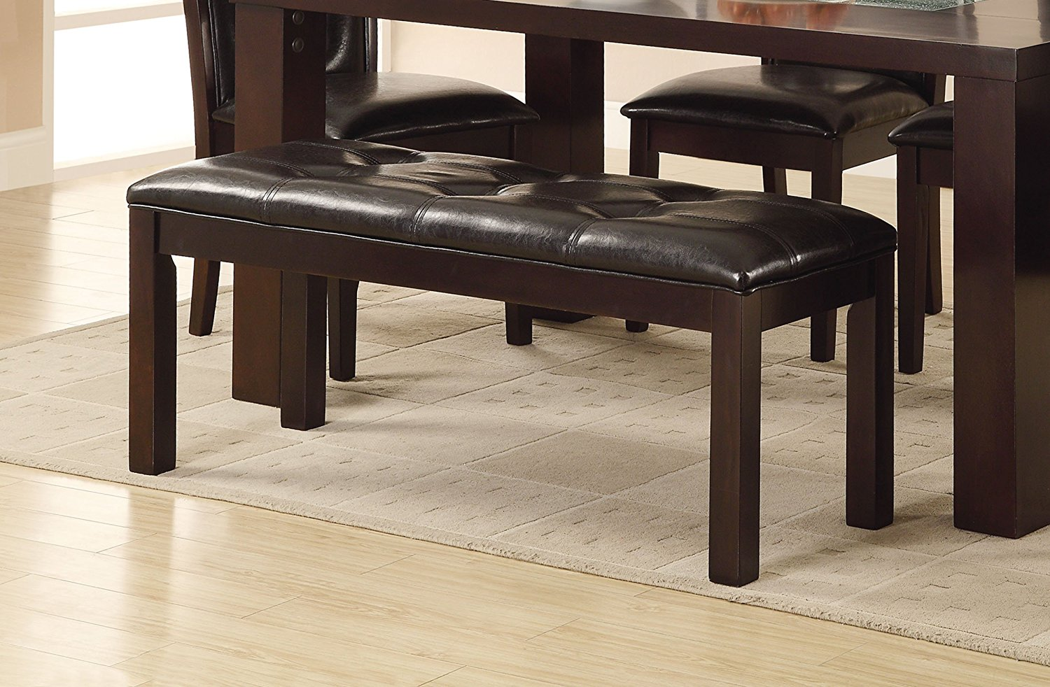 Homelegance 2528 13 Dining Bench, 49 Inch, Western, Dark Brown, Espresso  Finish