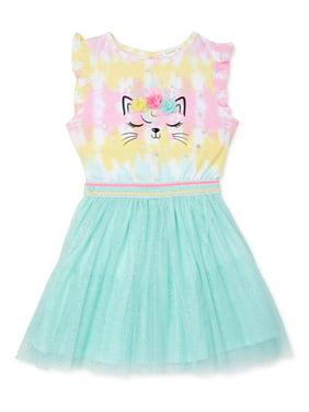 Forever Me Toddler Girls Kitty Tutu Dress (2T-4T)
