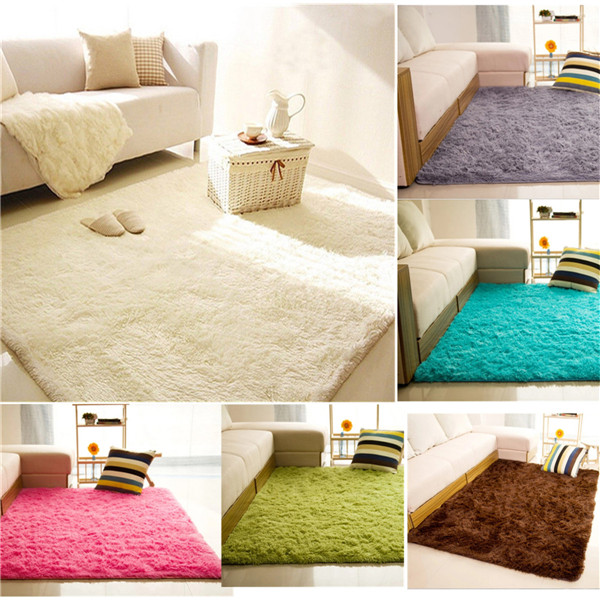 ELEGIANT Fluffy Floor Rug Anti Skid Shaggy Area Rug Dining Room Carpet Yoga  Bedroom Floor