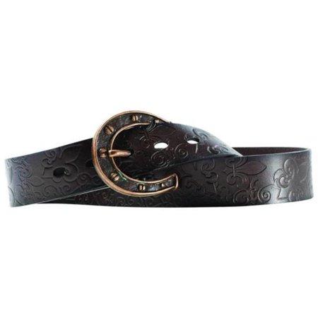 Womens Charmed Horseshoe Buckle Belt - Large - image 1 de 1