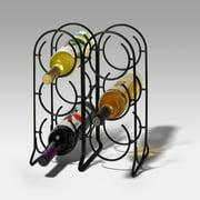 Spectrum Horseshoe 6-Bottle Wine Rack - Black