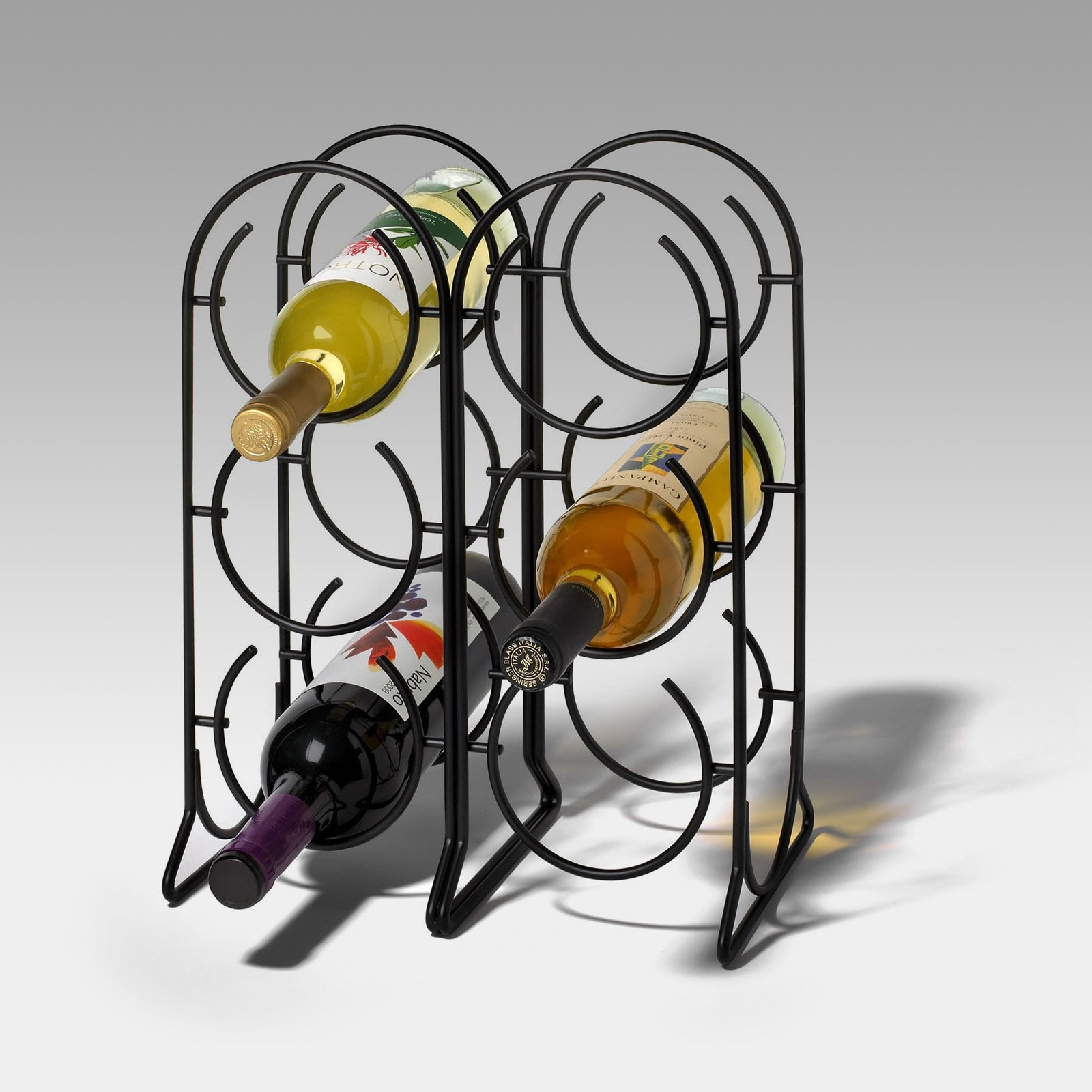 Spectrum Horseshoe 6-Bottle Wine Rack - Black