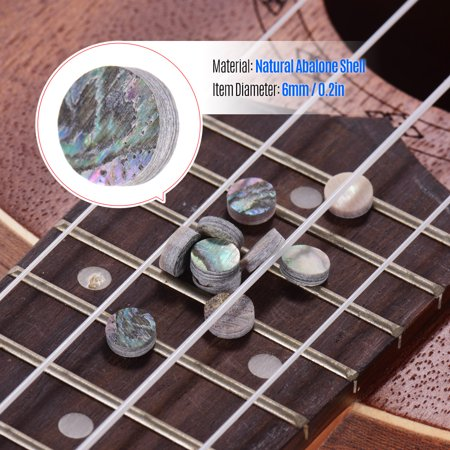 6mm Diameter Fretboard Fingerboard Position Marker Inlay Dots Colorful Abalone Mother of Pearl Shell Pack of 10