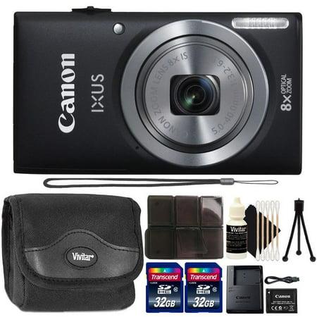 Canon Powershot Ixus 185 / ELPH 180 20MP Compact Digital Camera Black with Accessory