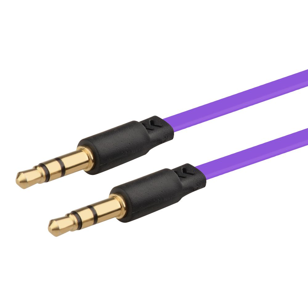 Insten 2-pack 3.5mm Stereo Audio M/M Cable, 3.3FT Light Blue