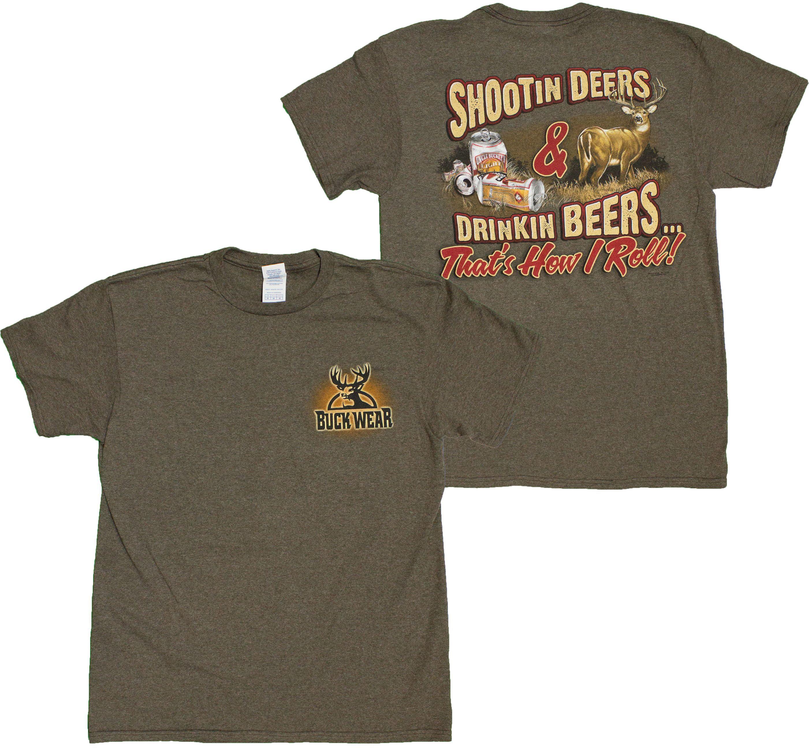 T Shirt Buckwear-Dodge Truck Camo Flag