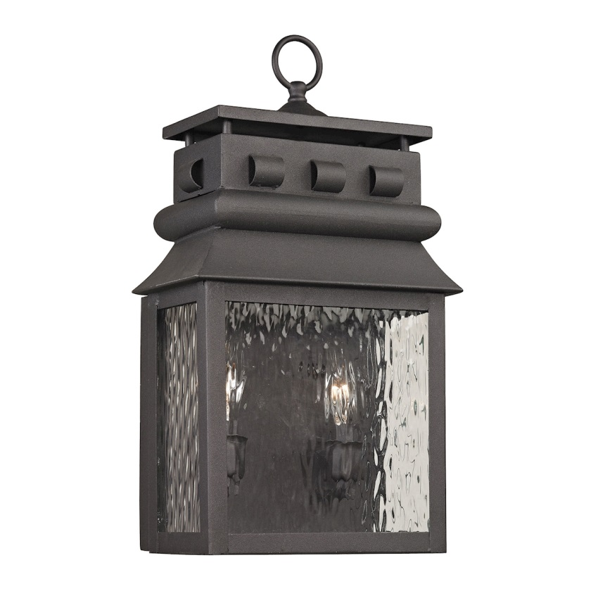 Forged Lancaster Collection 2 light outdoor sconce in Charcoal - image 1 of 1