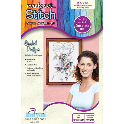 Janlynn 9x12 Wedding Bells Cross-Stitch Kit