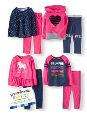Garanimals Mix & Match Outfits Kid-Pack Gift Box, 8pc Set (Toddler Girls)