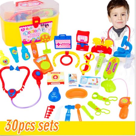 Discount For Kids (30Pcs Baby Kids Doctor Medical Playset Carry Case Kit Education Role Play Toys Suitable for boys and girls aged 3+ years School Season Discount Black Friday Big)