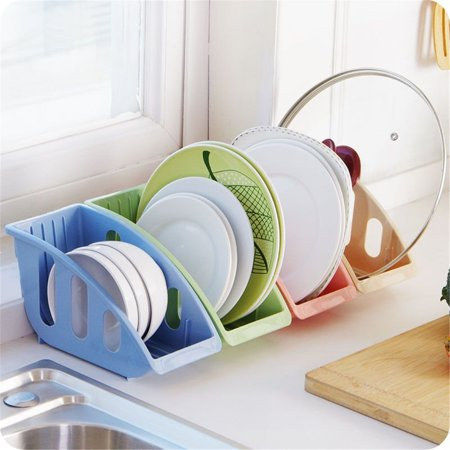 1Pcs Compact Plastic Kitchen Dish Plate Drying Sink Rack Organizer Storage Holder Kitchen Shelf Kit for Drying Bowls, Plates