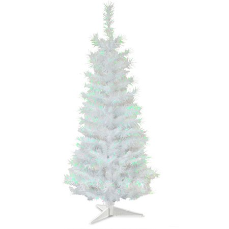 The Holiday Aisle 3' White Artificial Christmas Tree with Plastic Stand - The Holiday Aisle 3' White Artificial Christmas Tree With Plastic