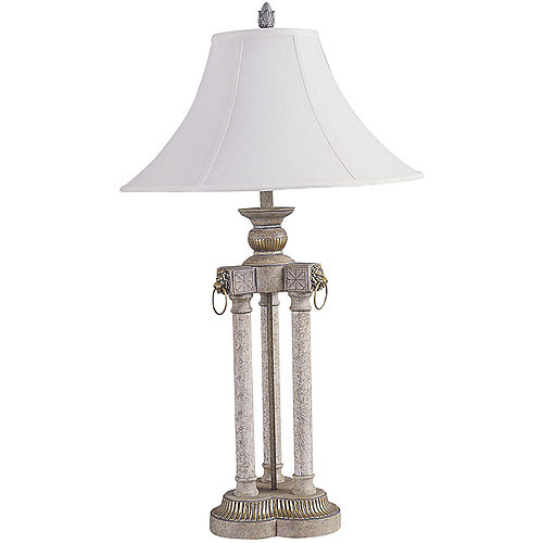 ORE International Deluxe Table Lamp, Brushed Ivory
