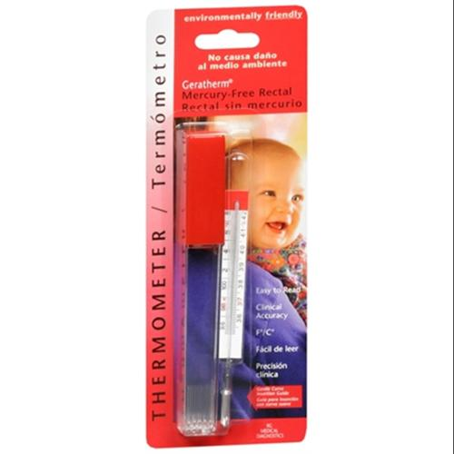 Geratherm Thermometer Rectal Mercury Free 1 Each (Pack of 4)