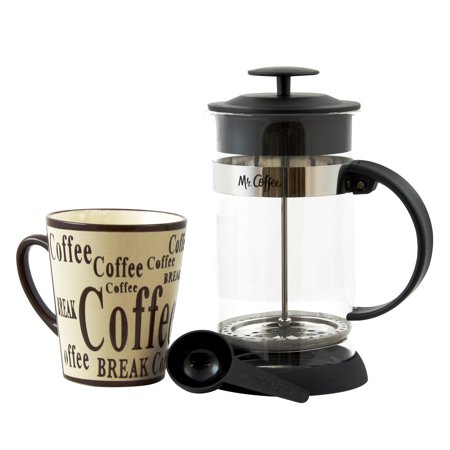 - Mr Coffee Café Oasis 2 piece Glass Coffee Press & Mug Gift Set