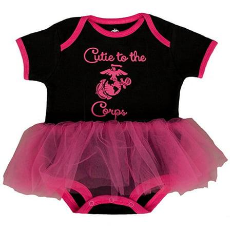 "8c9bec29a U.S. Marine Corps - TC Baby Girls U.S. Marine Corps Logo ""Cutie to the  Corps"" Tutu Bodysuit - Walmart.com"