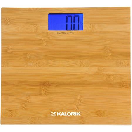 Kalorik Digital Bathroom Scale, Bamboo Finish ()