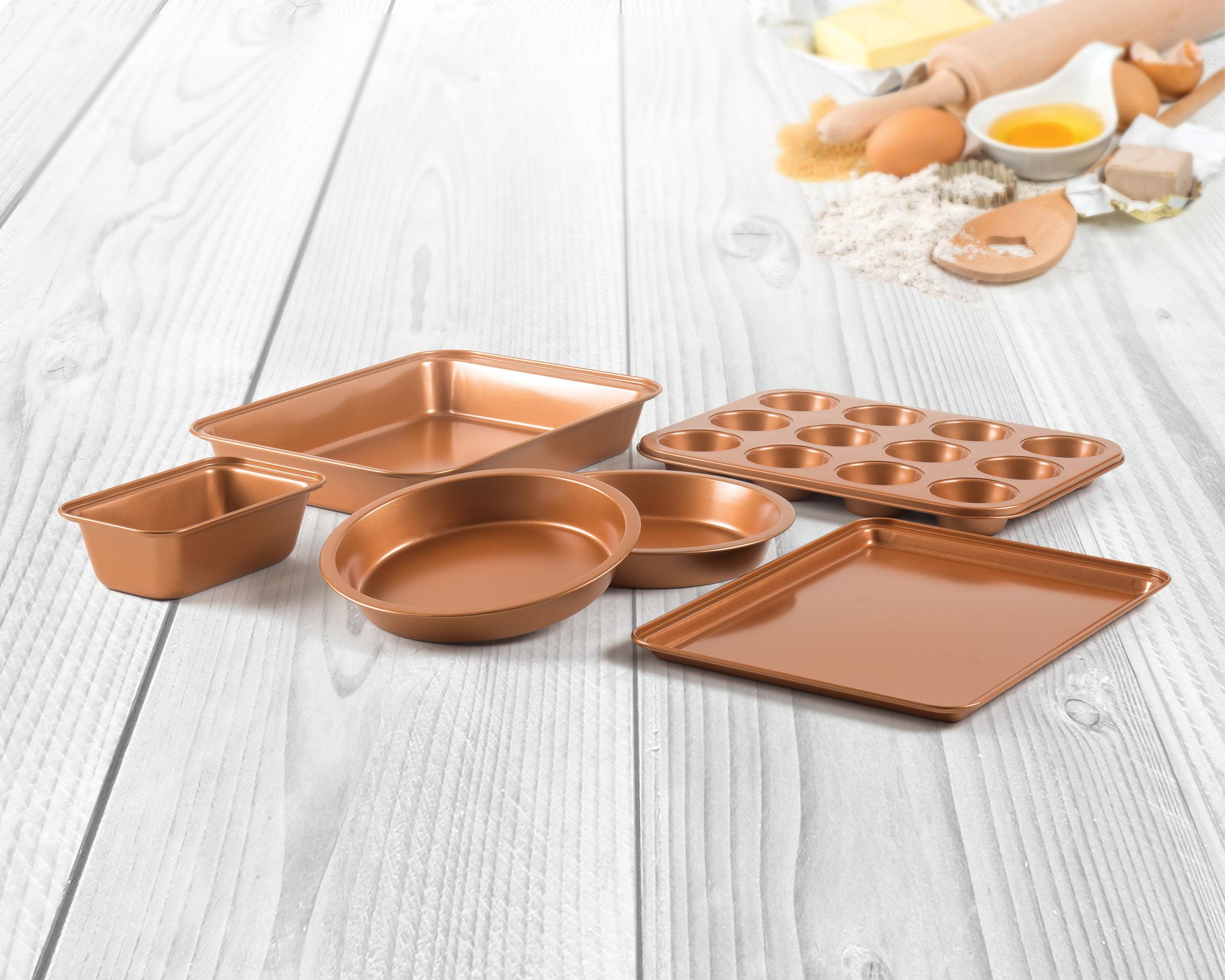 6 Piece Non Stick Copper Bakeware Set by Innova