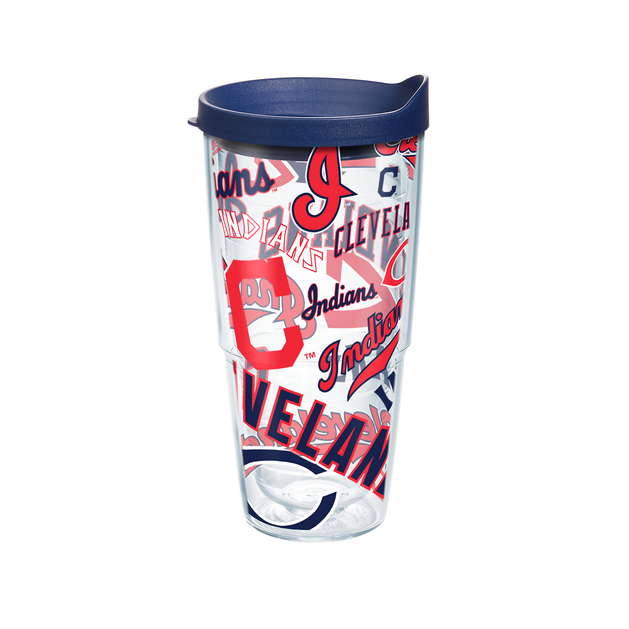 MLB Cleveland Indians All Over 24 oz Tumbler with lid