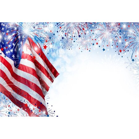 GreenDecor Polyster 7x5ft American Flag With Fireworks Backdrop 4 july Independence Day Photography Background Stars And Stripes USA Patriotic Veteran Holiday Photo Studio Props Portrait](Wizard Of Oz Backdrop)