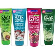 Freeman Facial Mask Variety Bundle, 6 fl oz (Pack of 4) includes 1-Tube Dead Sea Minerals Facial Anti-Stress Mask + 1-Tube Cucumber Facial Peel-off Mask + 1-Tube Avocado & Oatmeal Facial Clay Mask + 1