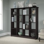 Bush Furniture Cabot 16 Cube Bookcase in Espresso Oak