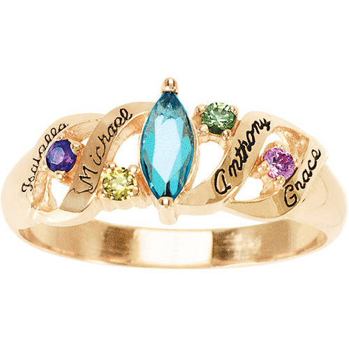 Keepsake Personalized Ava Mother's Birthstone Ring
