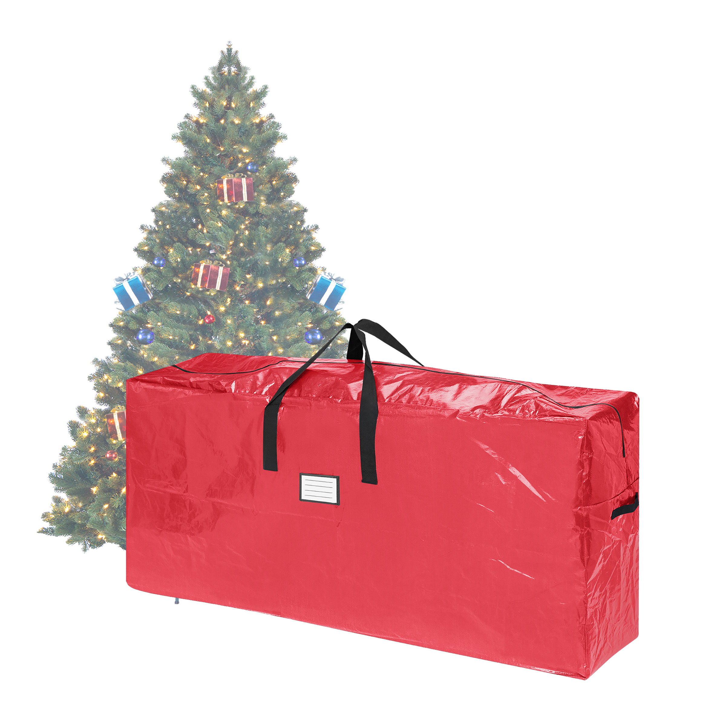 Elf Stor Premium Red Christmas Tree Bag Holiday Extra Tall For up to 9 Ft Tree