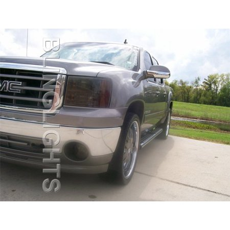 2007 2008 2009 2010 2011 2012 GMC Sierra Tinted Protection Overlays Film for Fog Lamps Lights