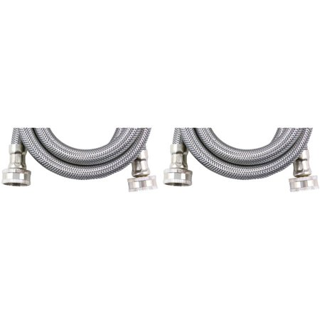 certified appliance wm60ss2pk braided stainless steel washing machine hose 2. Black Bedroom Furniture Sets. Home Design Ideas